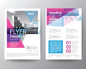 Abstract Blue and Pink geometric background for Poster Brochure Flyer