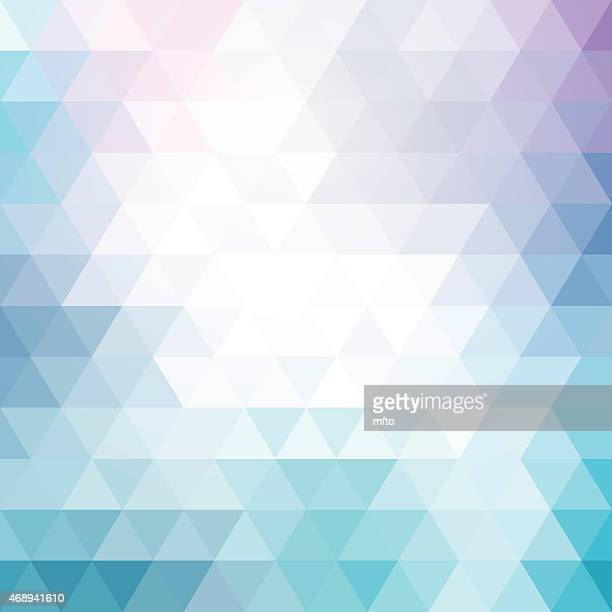 Abstract blue and purple triangle background