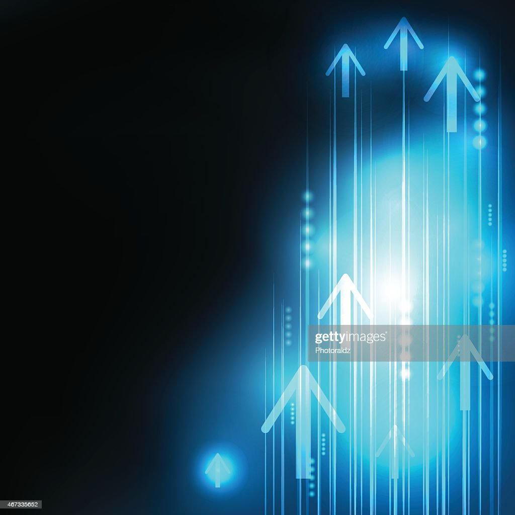 Abstract blue arrows communication background