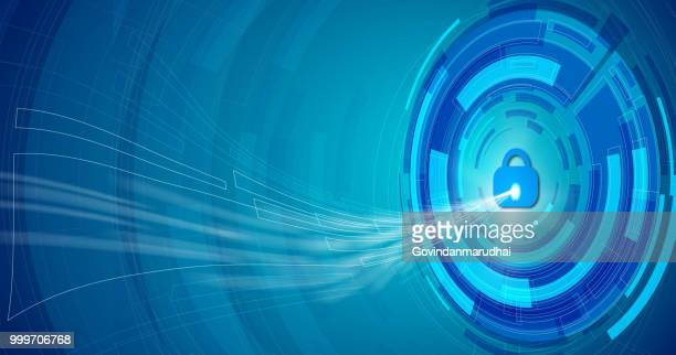 abstract blue background and system privacy - access control stock illustrations, clip art, cartoons, & icons