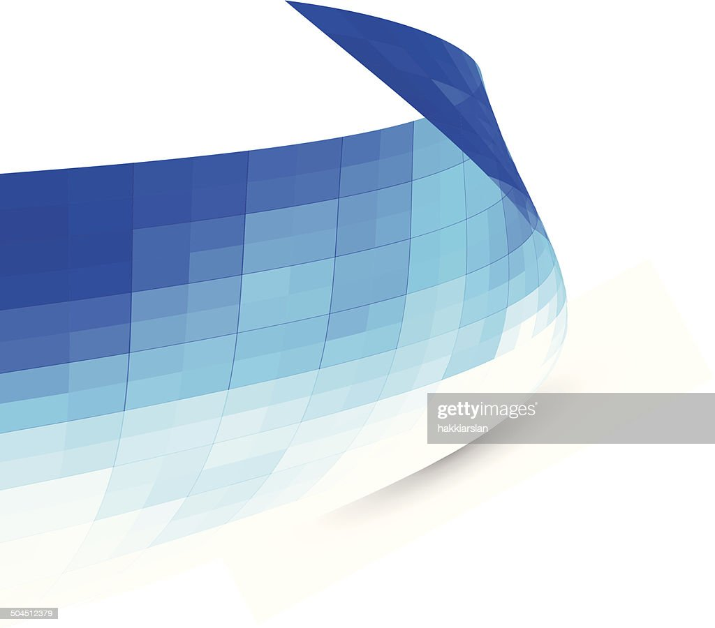 Abstract blue background, banner