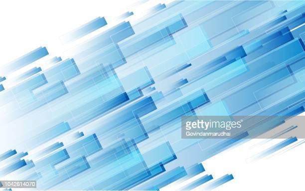 抽象的なブルーの背景  - 流れる点のイラスト素材/クリップアート素材/マンガ素材/アイコン素材