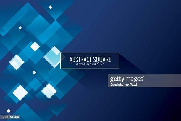 abstract blue background - square stock illustrations