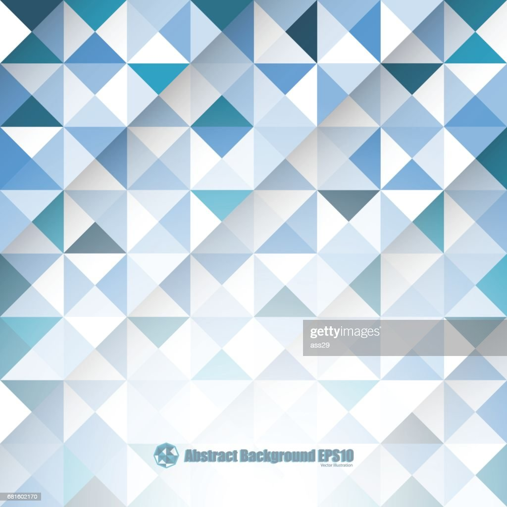Abstract blue background with triangles and lines