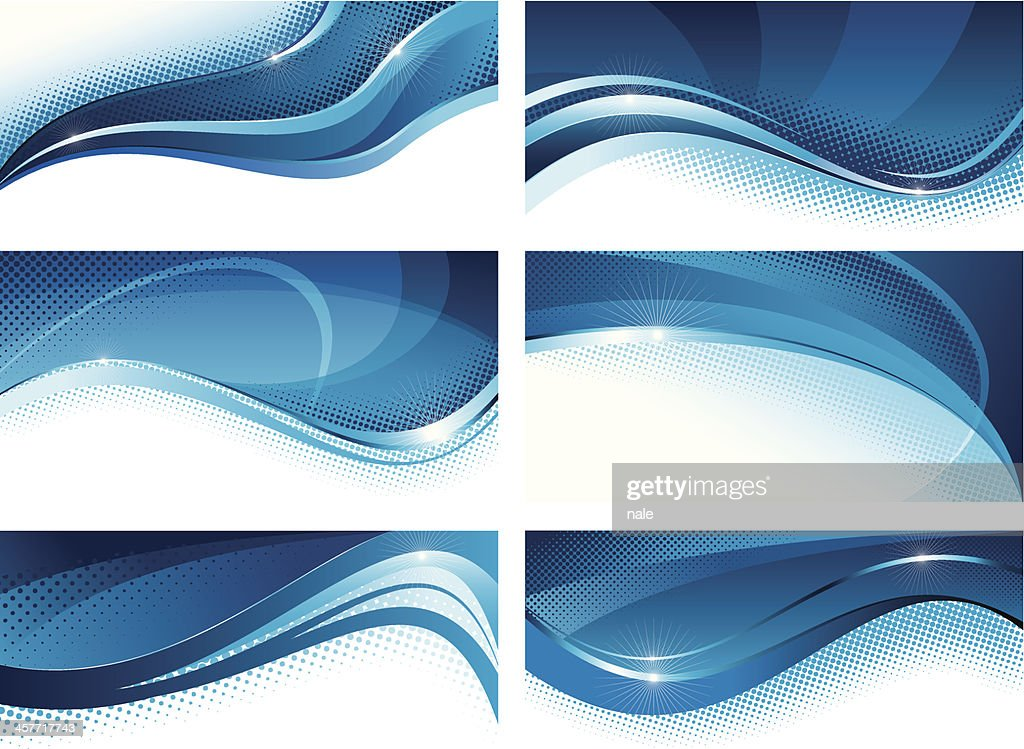 Abstract blue banners set