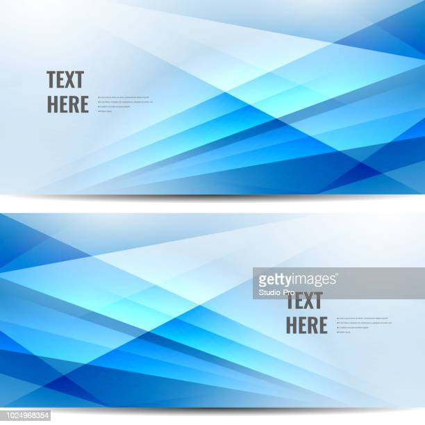 abstract blue banners - point of view stock illustrations
