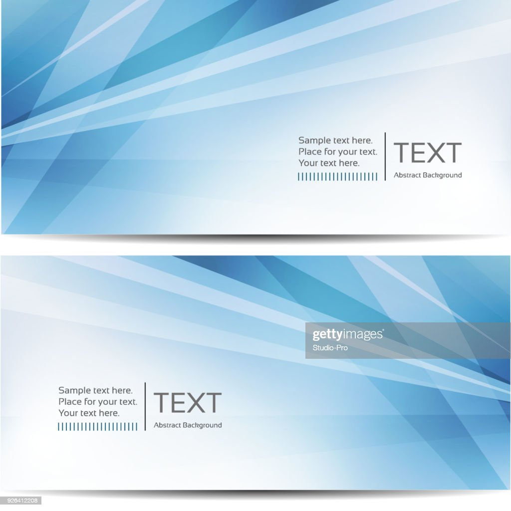 Abstract blue banners