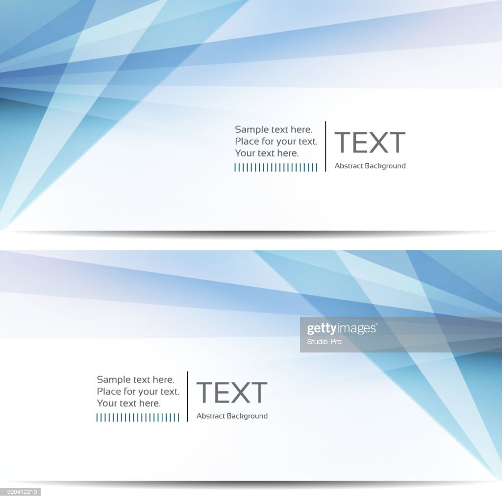 Abstract blue banners : stock illustration