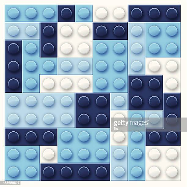 abstract blue blocks background - building block stock illustrations