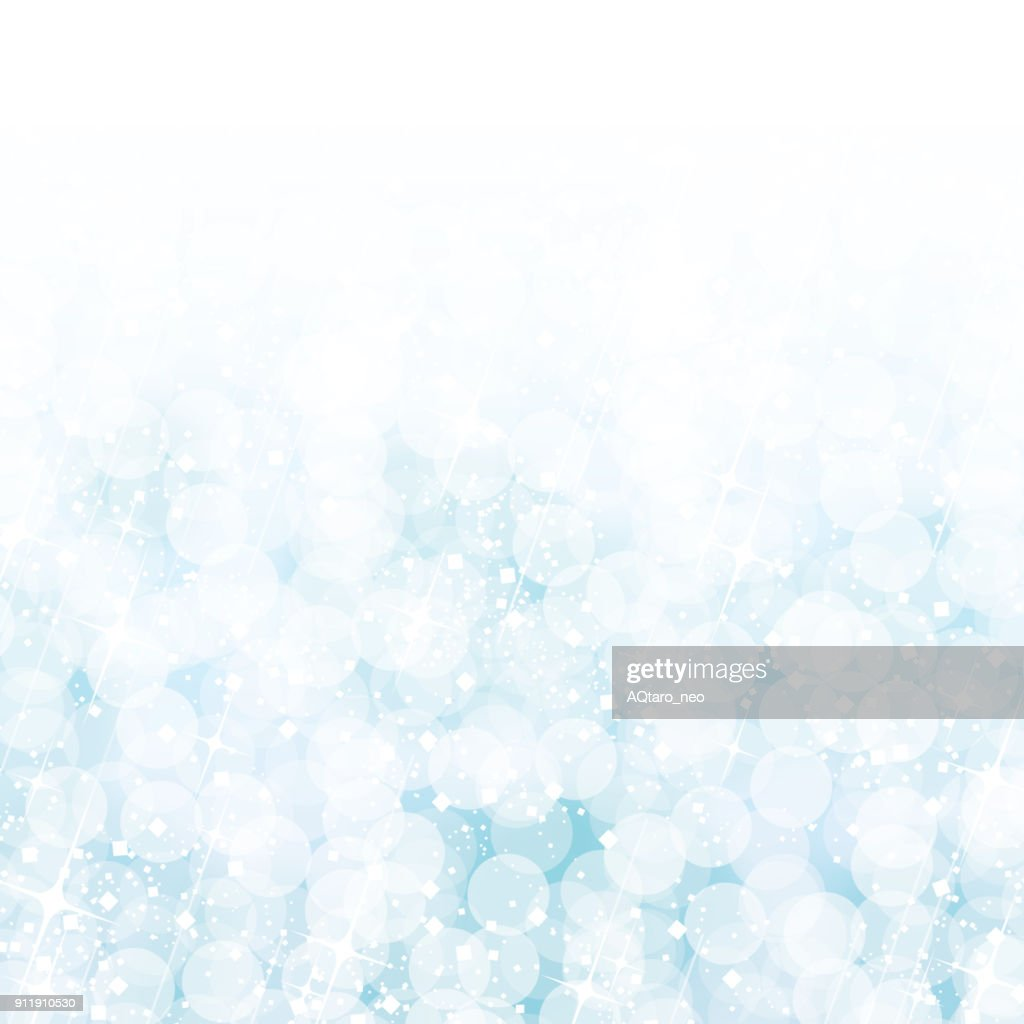 Abstract blue bokeh lights background