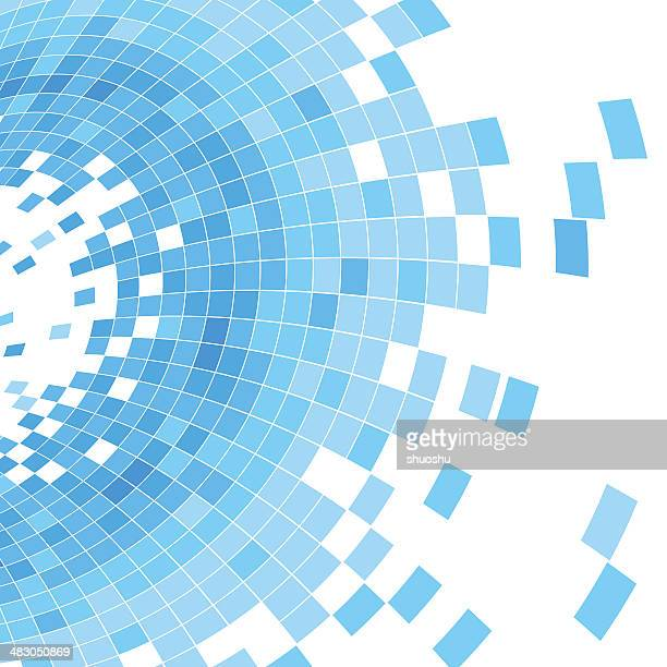 abstract blue check shape background