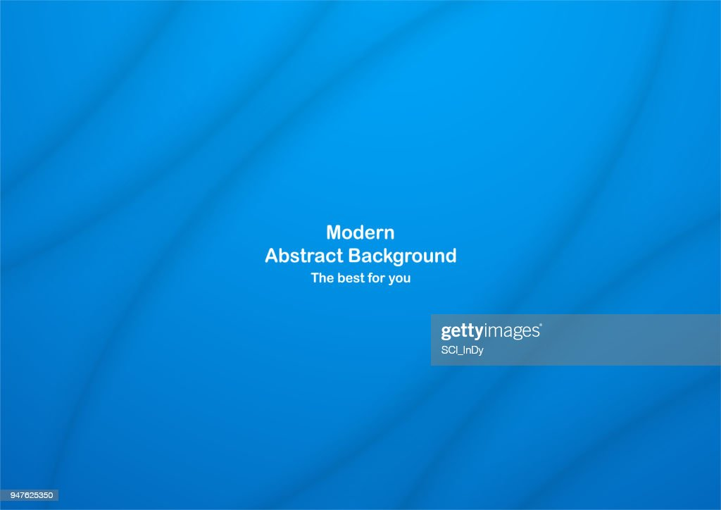 Abstract blue curve background with copy space for white text. Modern template design for cover, brochure, web banner and magazine.