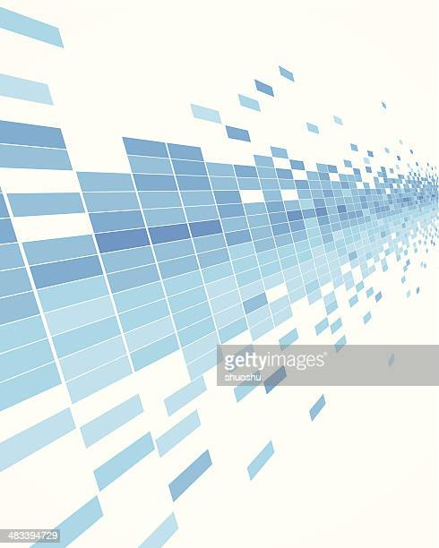 Abstrakt Blau Daten fließen Konzept Hintergrund