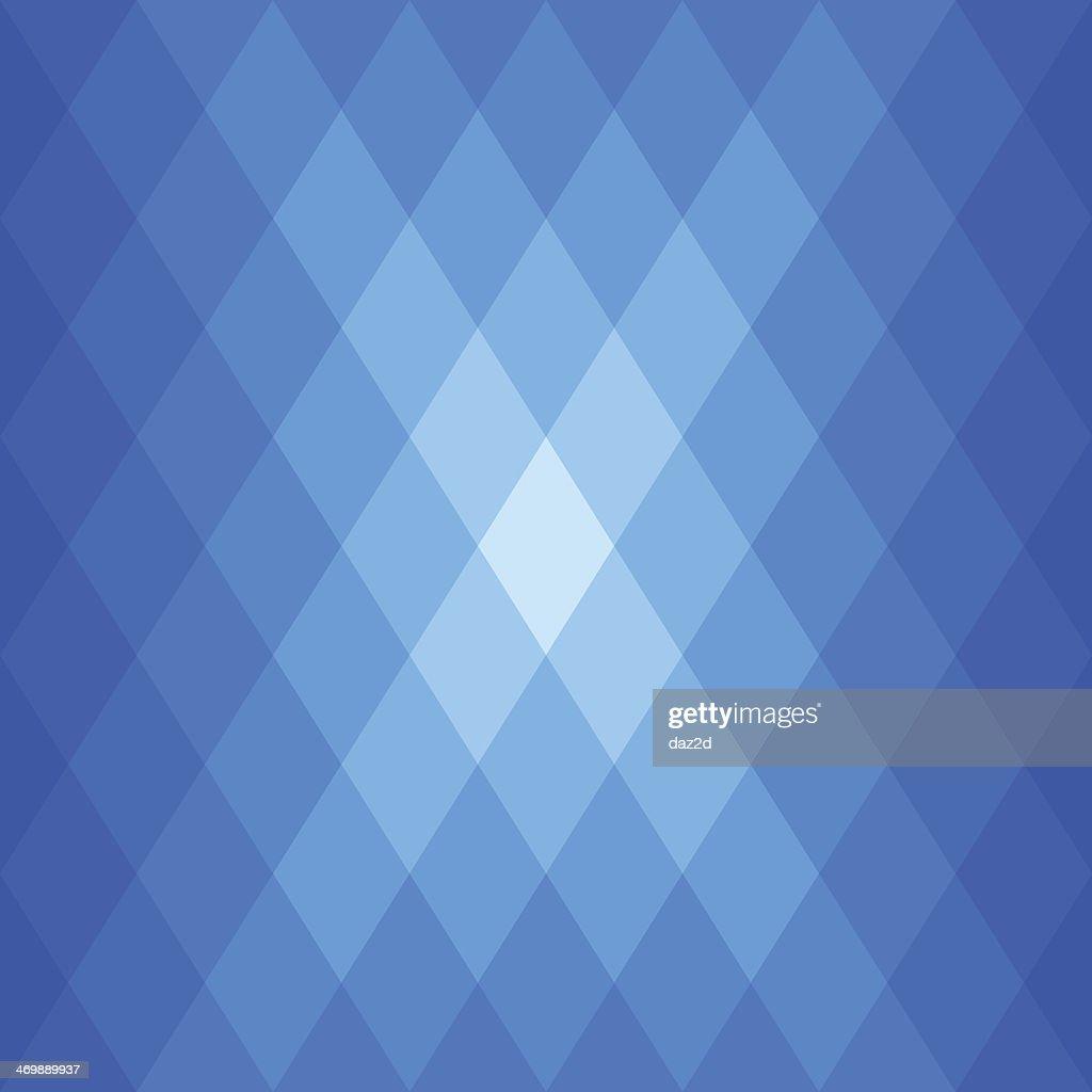 Abstract Blue Diamond Shaped Flare