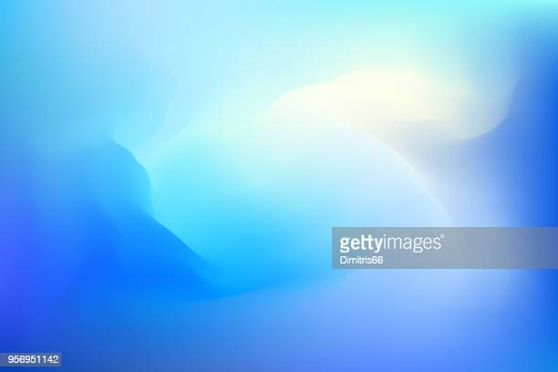 abstract blue dreamy background - cloud sky stock illustrations