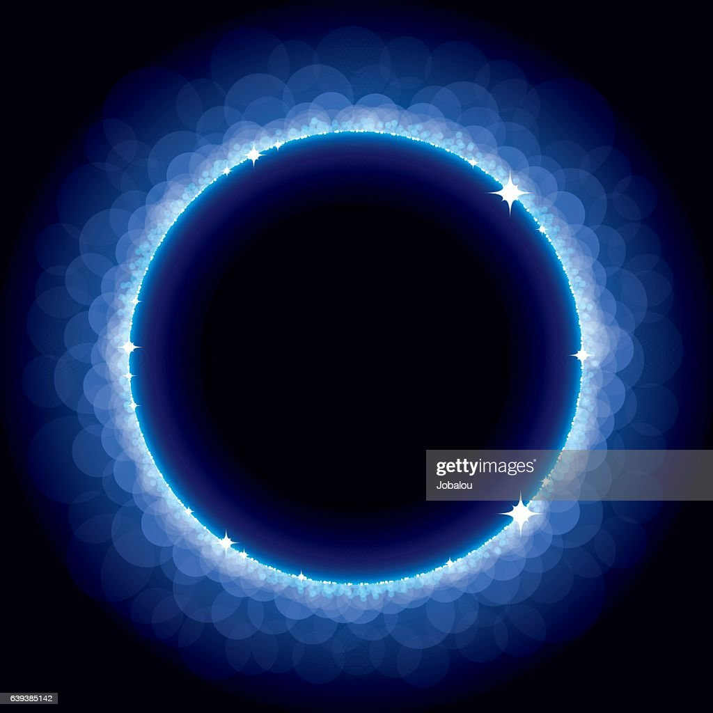 Abstract Blue Eclipse