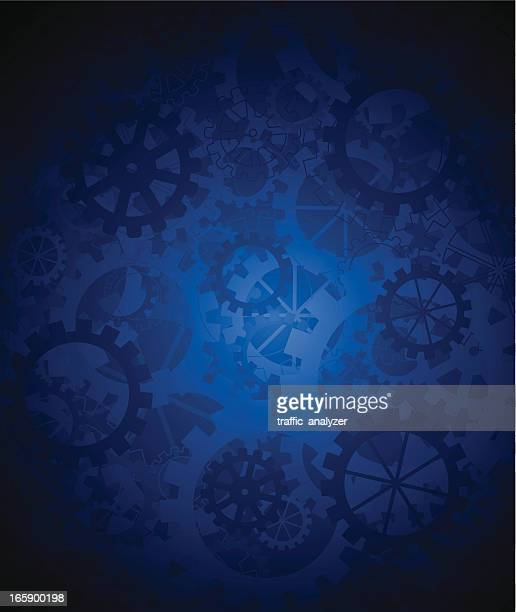 abstract blue gears background - gearshift stock illustrations, clip art, cartoons, & icons
