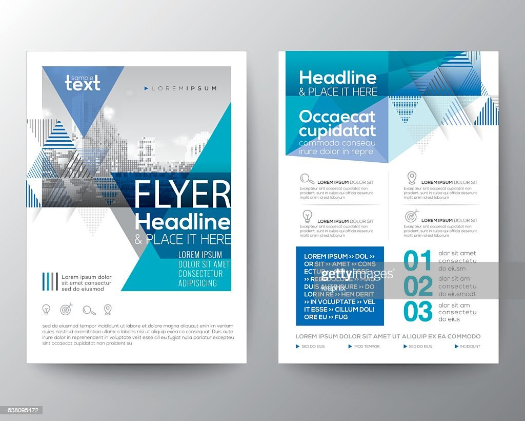 Abstract Blue geometric background for Poster Brochure Flyer design Layout
