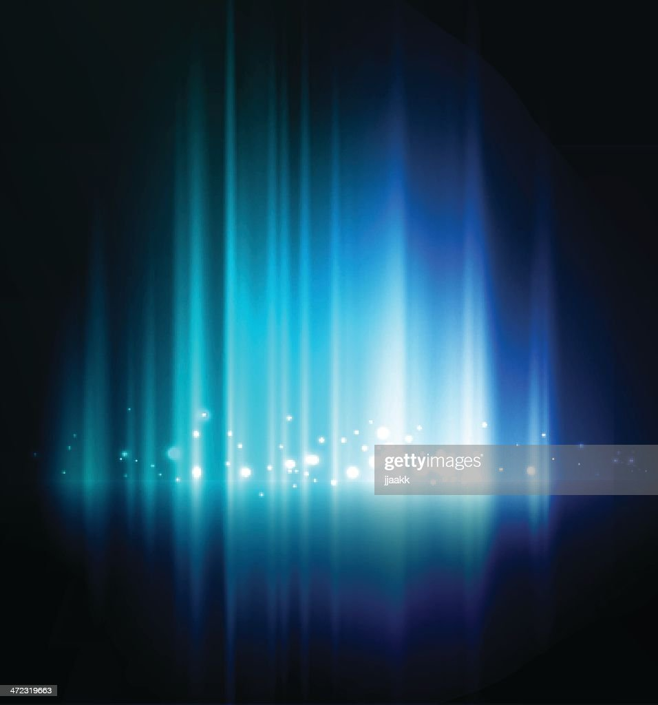 Abstract blue glow background with white lights