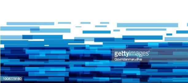 ilustrações, clipart, desenhos animados e ícones de abstrato azul fundo de meio-tom - panorâmica