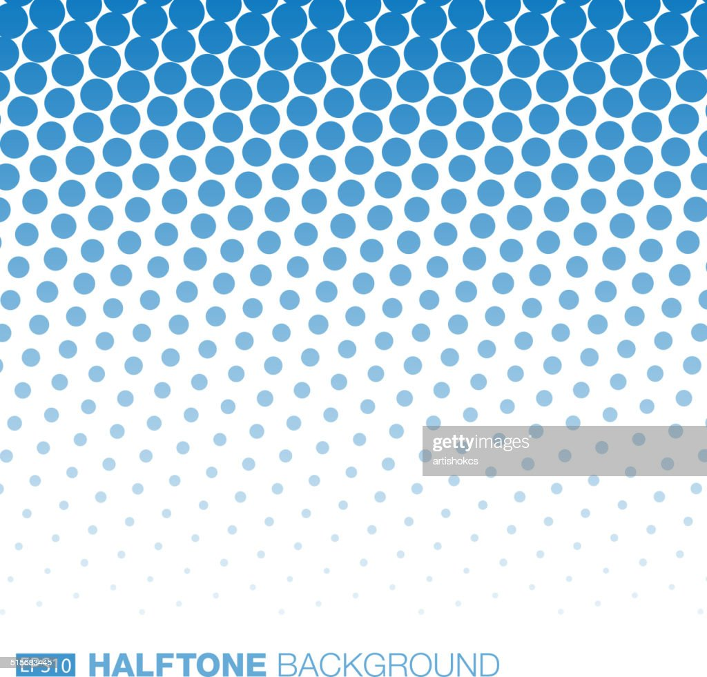Abstract Blue Halftone Background.