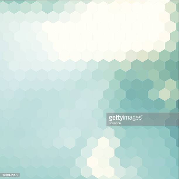 abstract blue hexagon pattern background