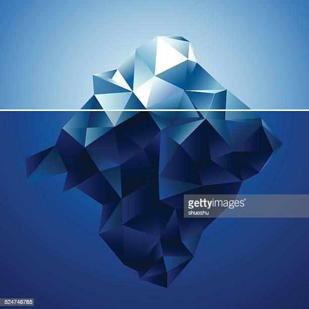 abstract blue iceberg pattern background - iceberg ice formation stock illustrations