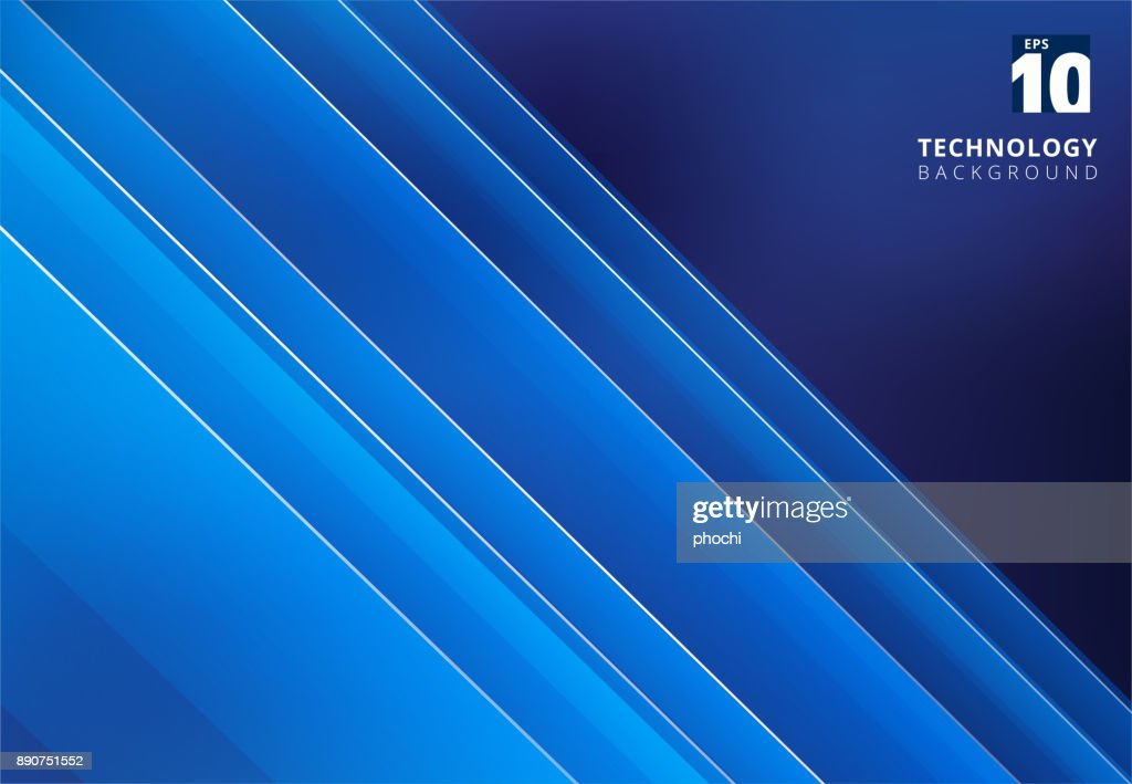 Abstract blue image that depicts technology with overlapping diagonal lines.