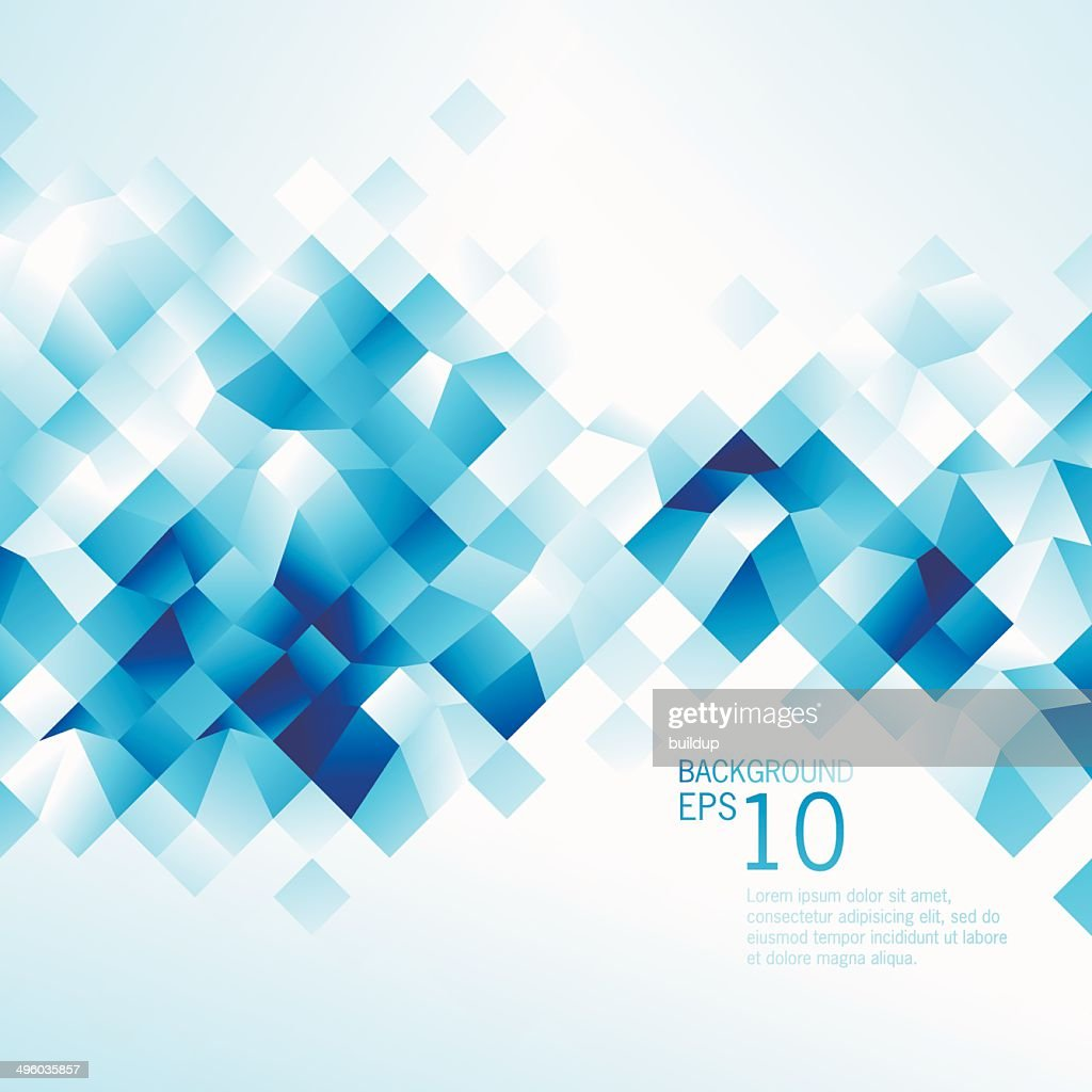 Abstract Blue Low Poly Background : stock illustration