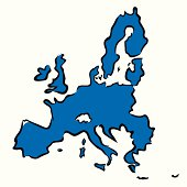 abstract blue map of European Union