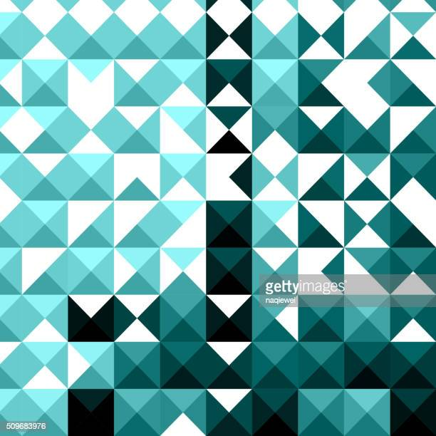 abstract blue mosaic pattern background