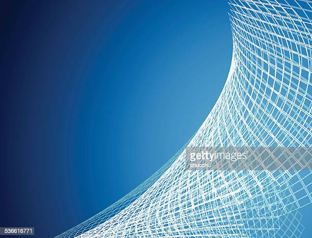 abstract blue net pattern technology background