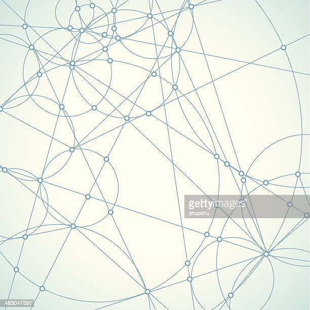 abstract blue network shape background