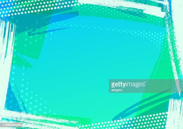 abstract blue pattern frame - turquoise colored stock illustrations