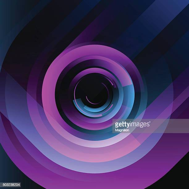 Abstract Blue Pink Background 80s