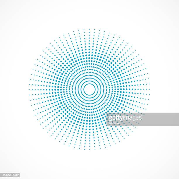 abstract blue polka dot circle  pattern