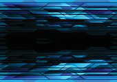 Abstract blue polygon futuristic in black design modern technology background vector illustration.