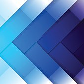 Abstract blue shining rectangle shapes background