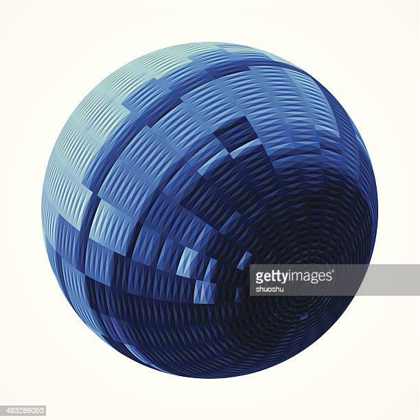 abstract blue stripe style round pattern background