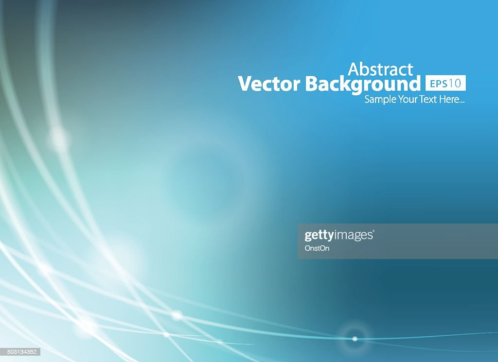 Abstract Blue Technology Background Vector Illustration