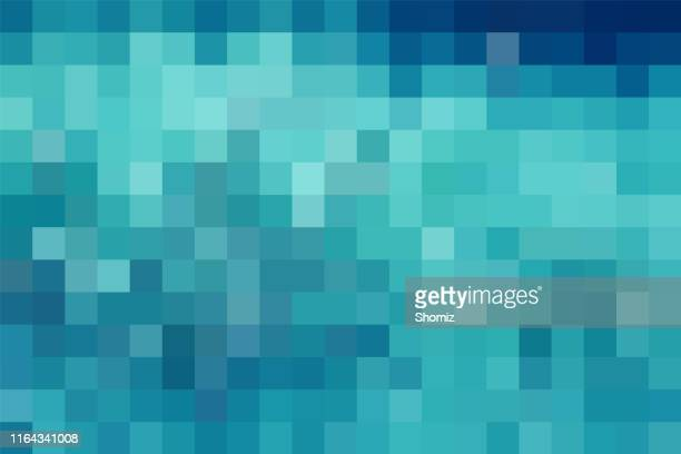 abstract blue technology check pattern background - square stock illustrations