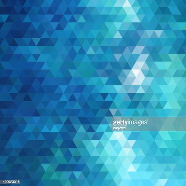 abstract blue triangle pattern background - triangle shape stock illustrations