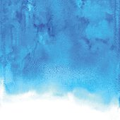 Abstract blue vector watercolor background for your design