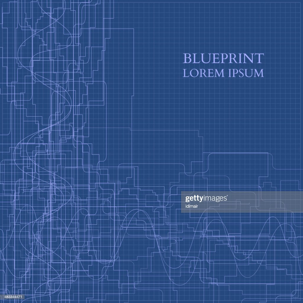 Abstract Blueprint Background For Business. Vector