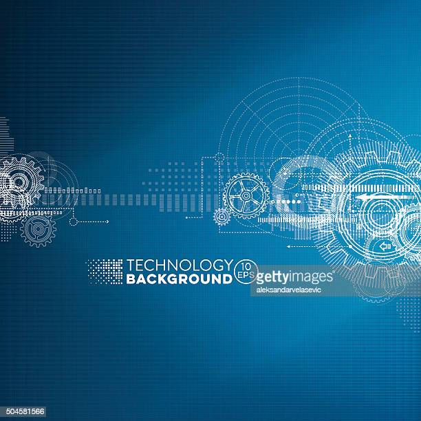 abstract blueprint background - science and technology stock illustrations