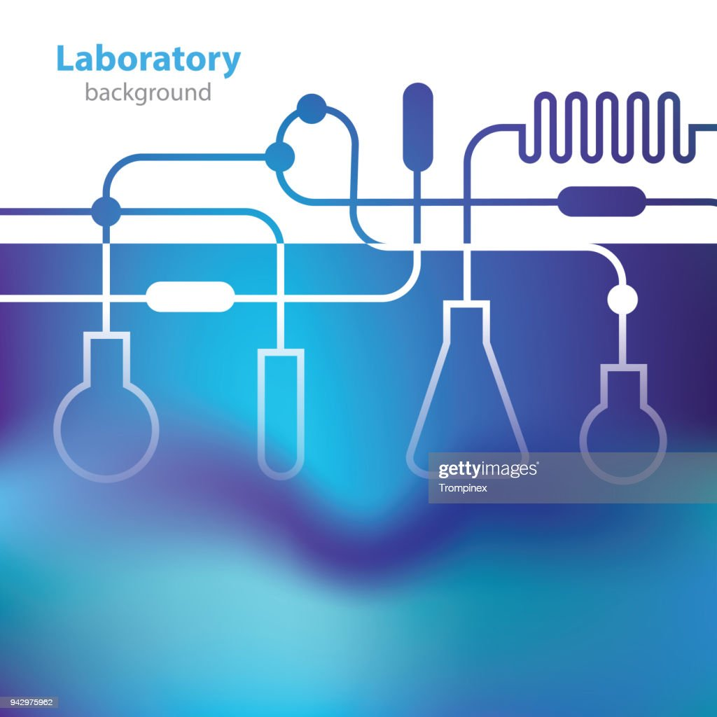 Abstract bluish medical laboratory background.