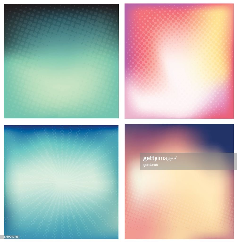 Abstract blurred background with halftone dots.