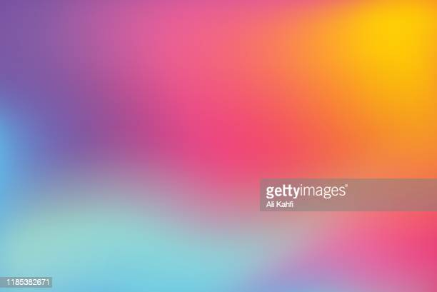 illustrazioni stock, clip art, cartoni animati e icone di tendenza di abstract blurred colorful background - ricciolo