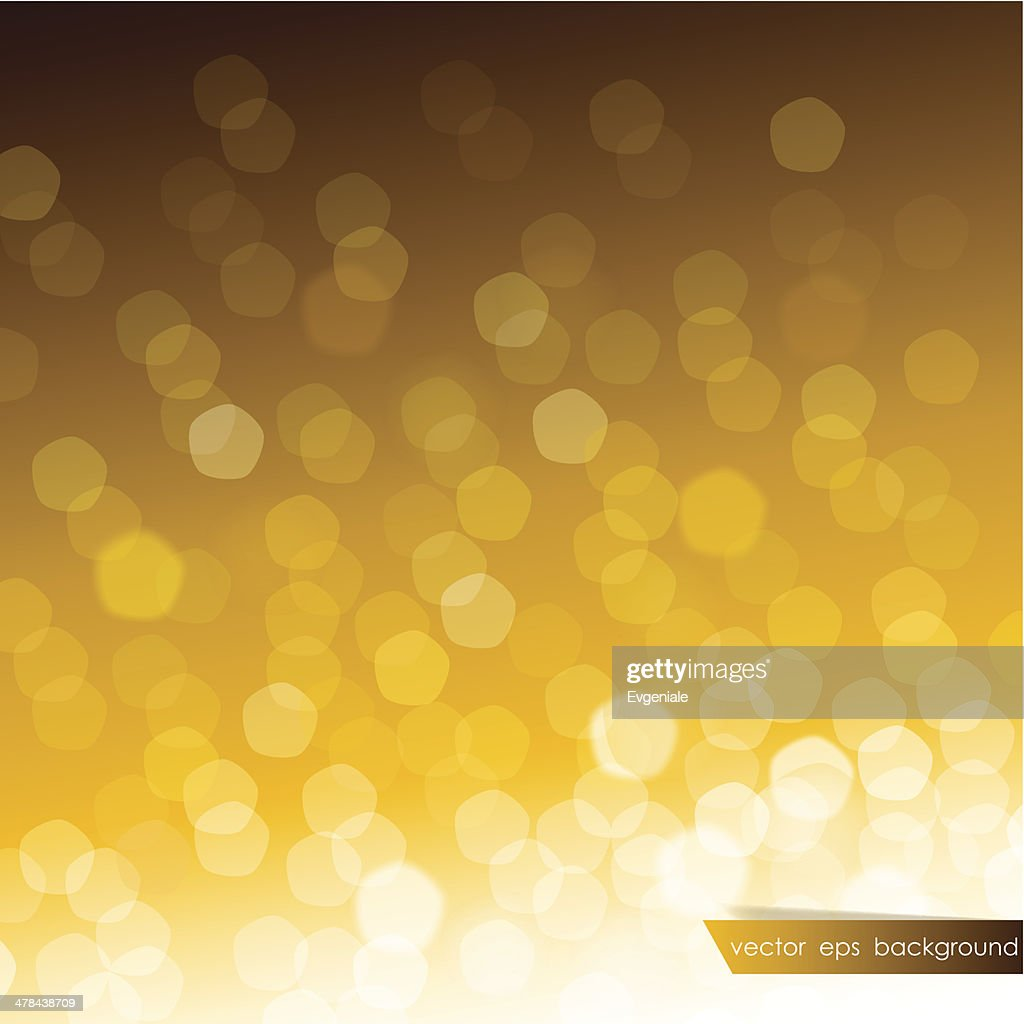 Abstract blurred golden background