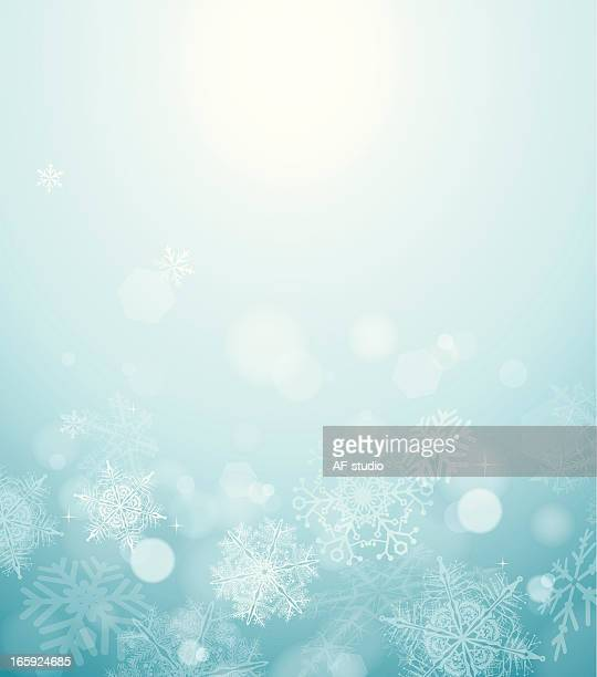 Abstract blurred snow background